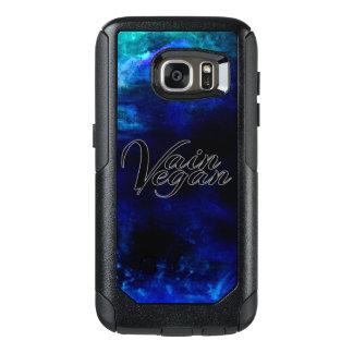 Caja inútil del teléfono del vegano (negro/azul) funda otterbox para samsung galaxy s7