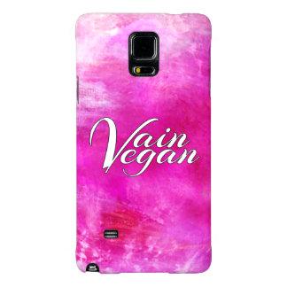 Caja inútil del teléfono del vegano (rosa/blanco) funda galaxy note 4