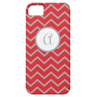 caja iPhone5 personalizada, rojo con los galones Funda Para iPhone 5 Barely There