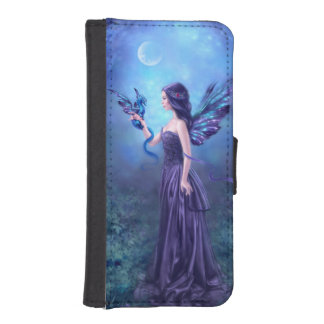 Caja iridiscente de la cartera del iPhone del arte Billetera Para iPhone 5