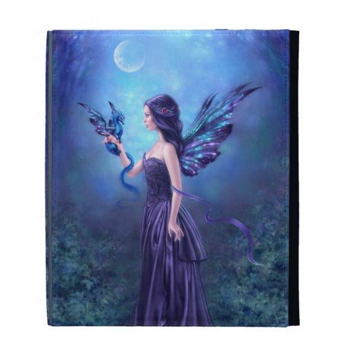 Caja iridiscente del folio del iPad del arte de la