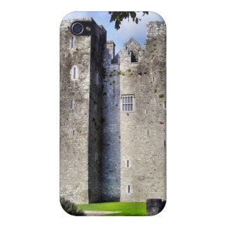 Caja irlandesa de la mota del castillo iPhone 4 protectores