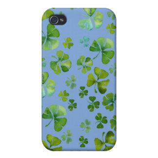 Caja irlandesa de la mota del trébol iPhone 4/4S carcasa