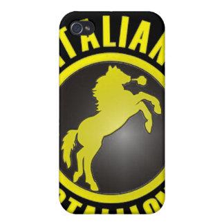 Caja italiana de la mota del iPhone 4 4s del semen iPhone 4 Protectores