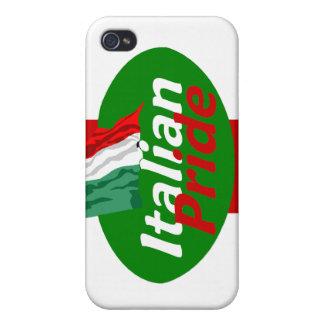 Caja italiana de la mota del orgullo iPhone 4/4S funda