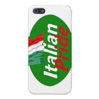 Caja italiana de la mota del orgullo iPhone 5 funda
