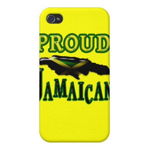 Caja jamaicana orgullosa de la mota del iphone 4 iPhone 4/4S fundas