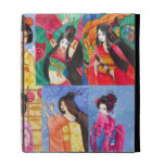 Caja japonesa del folio del iPad del arte pop del