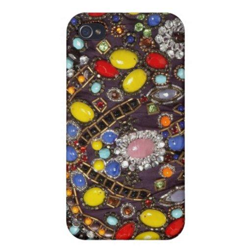 Caja Jeweled del teléfono de I iPhone 4 Coberturas