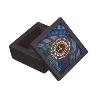 Caja juguetona de la baratija del navidad cajas de recuerdo de calidad