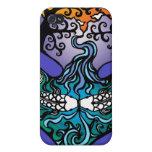 caja kissy del teléfono de los pescados iPhone 4 carcasa