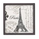 Caja lidded de París del vintage… Caja De Joyas De Calidad