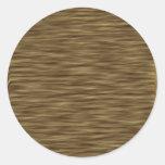 Caja linda agradable de madera plana de la piel etiqueta redonda