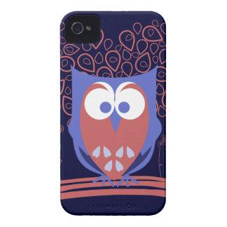 Caja linda caprichosa roja y azul 4s del iPhone 4 iPhone 4 Case-Mate Protectores