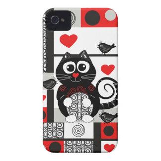 caja linda de la casamata del iPhone 4 con el gato iPhone 4 Cobertura