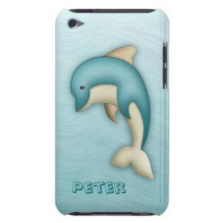 Caja linda de la casamata del monograma del delfín iPod touch coberturas