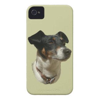 Caja linda de la casamata del perro de Jack iPhone 4 Fundas