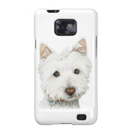 Caja linda de la casamata del perro de Westie Galaxy SII Funda