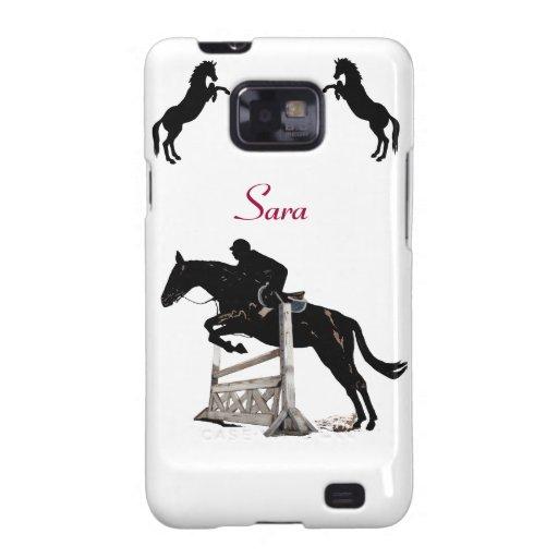 Caja linda de la galaxia S2 de Samsung del caballo Samsung Galaxy S2 Fundas