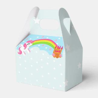 caja linda del favor del unicornio cajas para regalos de boda