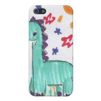 Caja linda del iPhone 4 del bosquejo del dinosauri iPhone 5 Cobertura