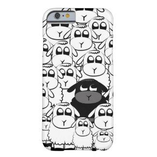 Caja linda del iPhone 6 de las ovejas negras Funda De iPhone 6 Barely There
