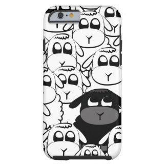 Caja linda del iPhone 6 de las ovejas negras Funda Resistente iPhone 6