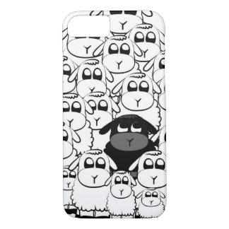 Caja linda del iPhone 7 de las ovejas negras Funda iPhone 7
