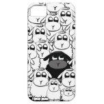 Caja linda del iphone de las ovejas negras iPhone 5 carcasa