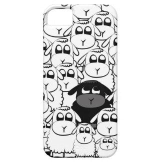 Caja linda del iphone de las ovejas negras funda para iPhone SE/5/5s