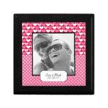 Caja linda del recuerdo de la foto del aniversario caja de regalo