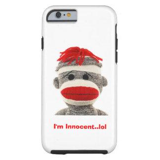 Caja LINDA del teléfono 5 del mono I del calcetín Funda Resistente iPhone 6