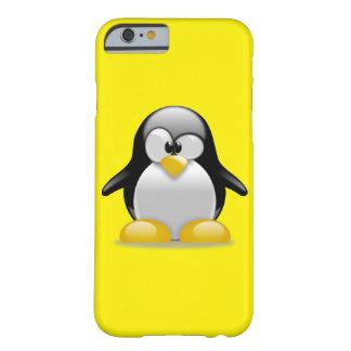 Caja linda del teléfono 6 del pingüino I de Tux Funda De iPhone 6 Barely There