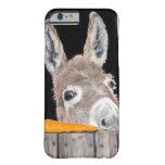 Caja linda del teléfono celular del burro funda para iPhone 6 barely there