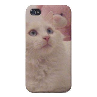 Caja linda del teléfono del gatito iPhone 4/4S fundas