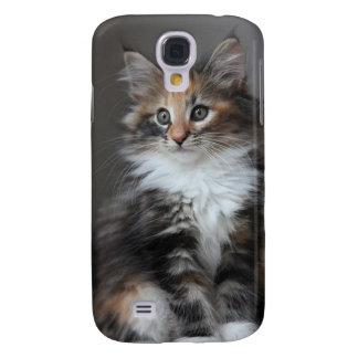 Caja linda del teléfono del gato