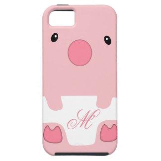Caja linda del teléfono móvil del cerdo iPhone 5 carcasa