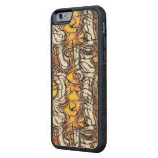 Caja líquida del teléfono del mosaico del extracto funda de iPhone 6 bumper arce