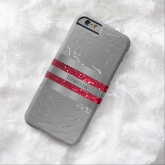 Caja líquida personalizada de la franja roja de la funda para iPhone 6 barely there