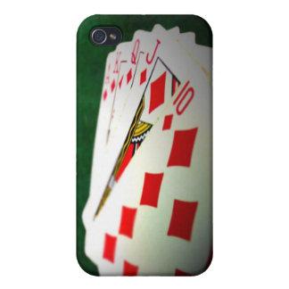 caja lisa del póker iPhone 4 cobertura