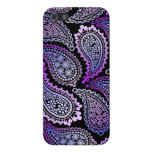 Caja lista púrpura del iPhone 5/5S de Paisley iPhone 5 Protectores