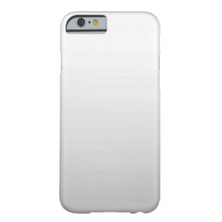 Caja llana gris blanca simple del iPhone 6 de Funda De iPhone 6 Barely There