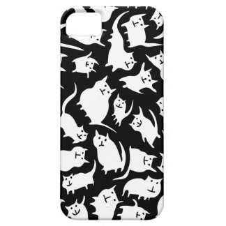 Caja loca blanco y negro del iPhone 5 de los gatos iPhone 5 Case-Mate Funda