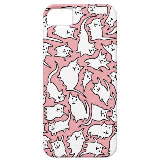 Caja loca del rosa y blanca de los gatos del iPhone 5 cárcasas