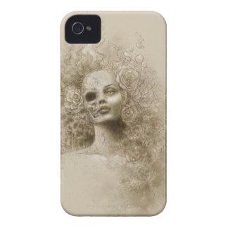 Caja macabra de Blackberry del arte de la fantasía Case-Mate iPhone 4 Cárcasas
