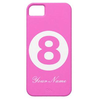 Caja magenta del número ocho iPhone 5 carcasas