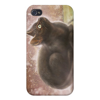 Caja mágica del iPhone 3 del gato negro iPhone 4 Fundas