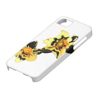 Caja mareada del teléfono de Daff - amarillo iPhone 5 Protector