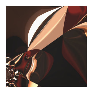 Caja marrón del chocolate del arte abstracto de la impresiones en lona estiradas