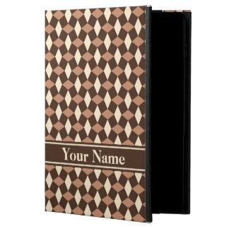Caja marrón oscura del iPad del modelo ondulado